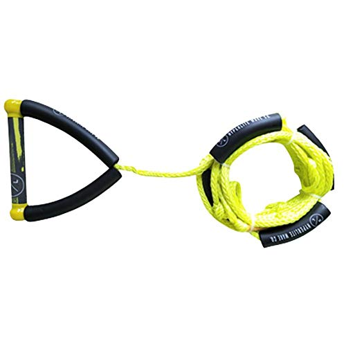 Hyperlite 25' Surf Rope with Handle Yellow, Red, Blue, Grey Wakeboard Waterski