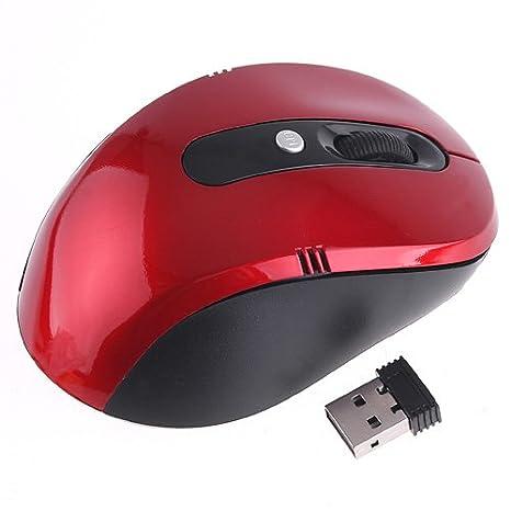 Amazon.com: Kingzer 2,4 gHz mouse inalámbrico con receptor ...