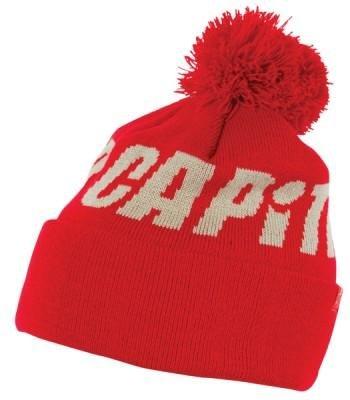 Capita Pom Knit Beanie One Size : : Red (Capita Hat)
