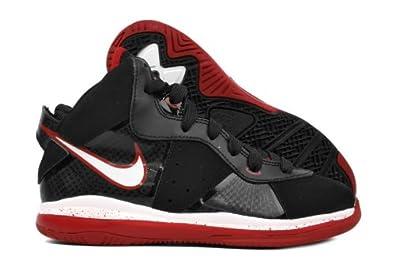 468639e7c93c8 Amazon.com  NIKE Lebron 8 (PS) Little Kids  415240-001  Black White-Sport Red  Boys Shoes 415240-001  Shoes