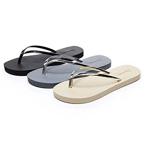 for Summer Slippers Skid Apricot This Beach Swimming 2018 Flip Strap Anti Good01 Flops Fashion Women qCgwnzT