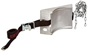 """Talboys 717 Aluminum Cylinder Wall Bracket with Safety Message Strap and Chain, 1.875"""" Length x 8.125"""" Width x 4.625"""" Height"""