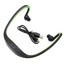 iPhone SE LG Samsung S7/S7 edge Wireless Bluetooth Headset Sport Earphone- Green