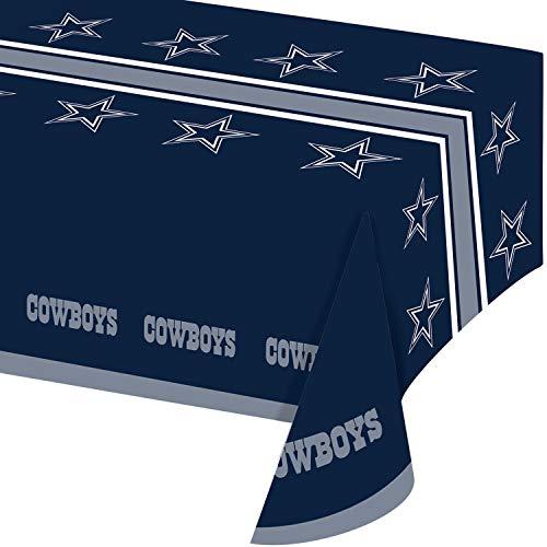 Dallas Cowboys Plastic Tablecloths, 3 ct