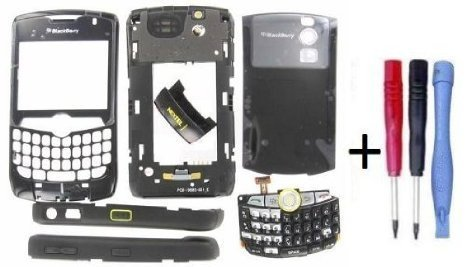 Nextel Curve - Blackberry Curve 8350i Nextel OEM Full Housing With Battery Door Black + Parts4BB Tool Set
