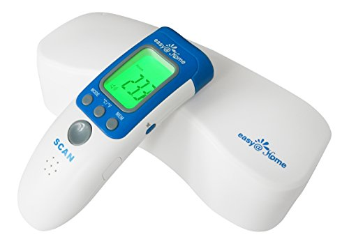 Easy@Home 3 in 1 Non-contact Infrared Forehead Thermometer for Baby Adult and Child - Forehead, Surface and Room Temperature, Clinical High Accuracy, FDA Approved and Pediatrician Recommended,NCT 301