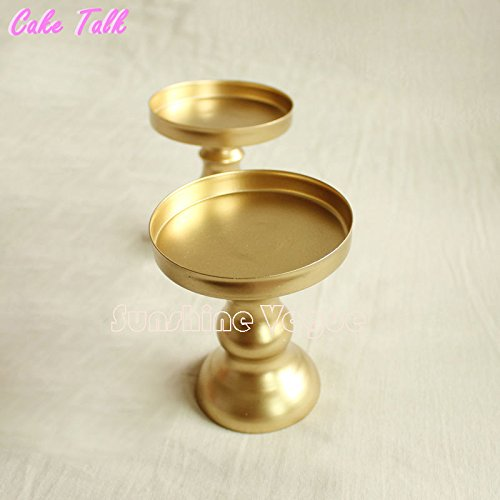 Metal Iron Mini Candleholder Cupcake Decorator (Gold)