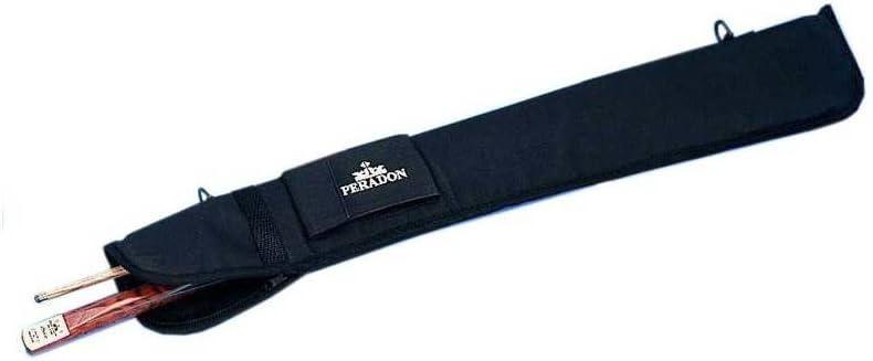 Peradon - Estuche para tacos de billar (nailon, con cremallera y cinta de transporte), color negro: Amazon.es: Electrónica