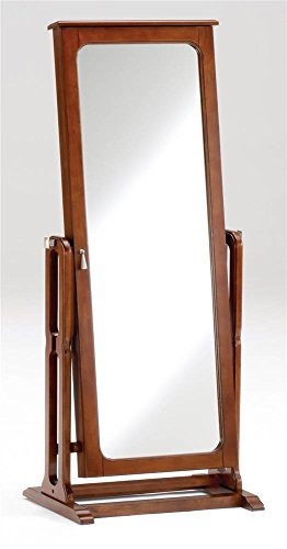 Jewelry Armoire with Cheval Mirror