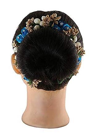 Flower Hair Joora Jura For Bharatnatyam Kathak Kuchi Puri To Explore The Dance With Full Confidence And Energy Stylish Hair Flower Joora Bharatnatyam Hair Flower Kathak Hair Flower Amazon In Beauty