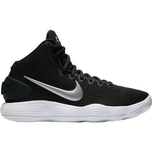 NIKE Women's Hyperdunk 2017 TB Basketball Shoe Black/Metallic Silver/White Size 10 M US