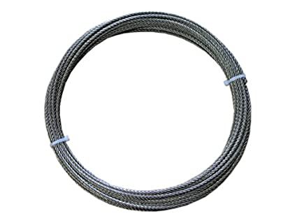 Loos Stainless Steel 316 Wire Rope, 7x19 Strand Core, 1/8\
