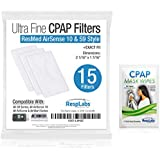 CPAP Filters, ResMed AirSense 10 Compatible — Also: S9, AirStart & AirCurve [15 Pack] + Inclusions | Machine, Masks & Equipment Supplies by RespLabs