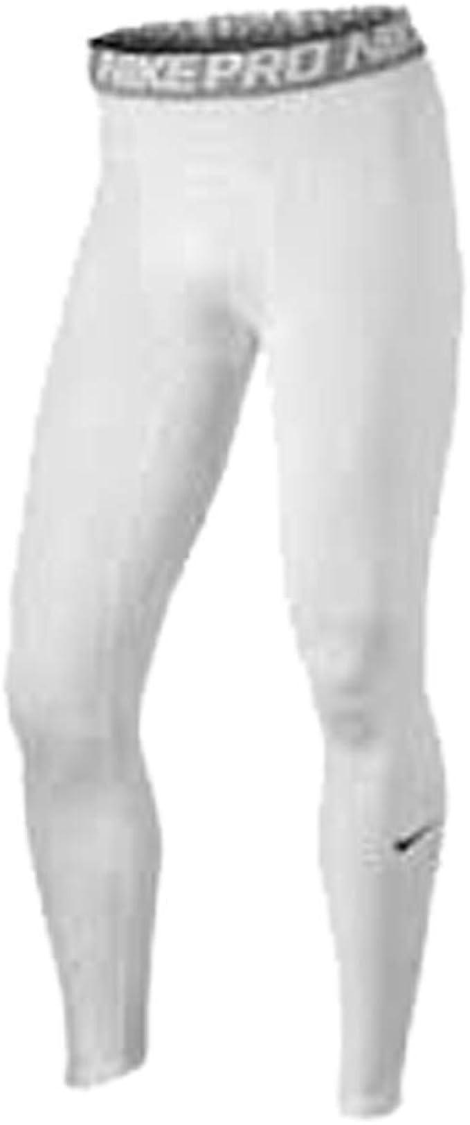 fusible estante Simplemente desbordando  Nike Pro Hyperwarm - Pantalones de entrenamiento de compresión para hombre,  S, Blanco: Amazon.es: Deportes y aire libre
