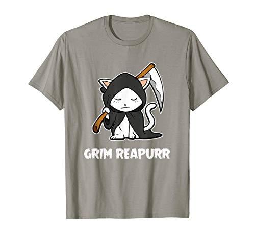 Grim Reapurr T-Shirt Grim Reaper Cat Halloween Costume