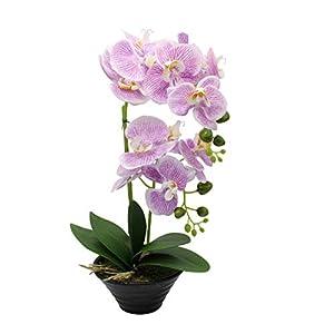 CoziBreath Large Artificial Flower Arrangements Silk Orchid Faux Flowers in Vase Table Centerpiece Home/Wedding/Party/Office Decor 4