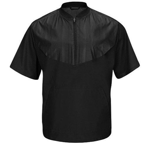 Majestic Men's Cool Base Short Sleeve Training Jacket Black Large ()