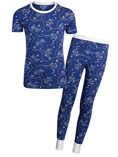 Kitestrings Boys' 2-Piece Snug Fit Pant Pajama Set with Short Sleeve Top, Navy, Size - Piece 2 Thermal Sweatpants