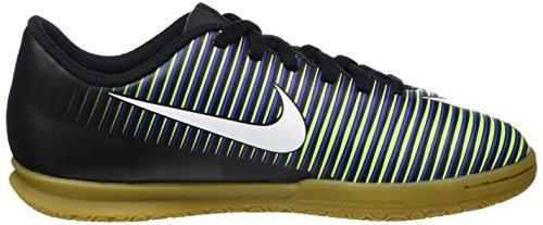Nike 831953-013, Botas de Fútbol para Niños Negro (Black / White-Electric Green)