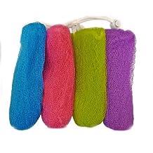 Aquasentials Exfoliating Mesh Soap Saver Pouch (4pk)(Color Assorted)