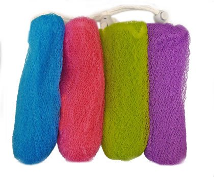 Aquasentials Exfoliating Mesh Soap Saver Pouch (4pk)(Color Assorted) - Soap Pouch
