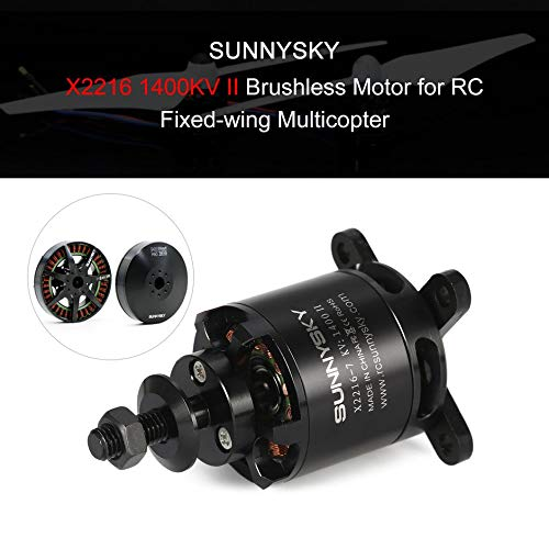 SUNNYSKY X2216 1400KV II 3.175mm 2-4S Outrunner Brushless Motor for RC Drone 400-800g Fixed-wing 3D Airplane Multirotor Copter❤️