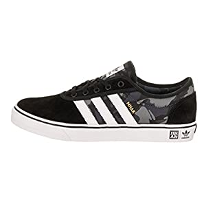 Adidas Men's Adi-Ease X Mhak Black/White/Gum4 Skate Shoe 8.5 Men US