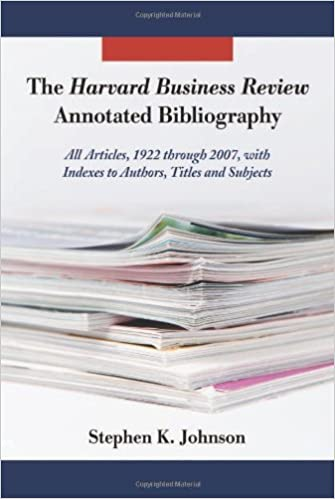The Harvard Business Review Annotated Bibliography All Articles