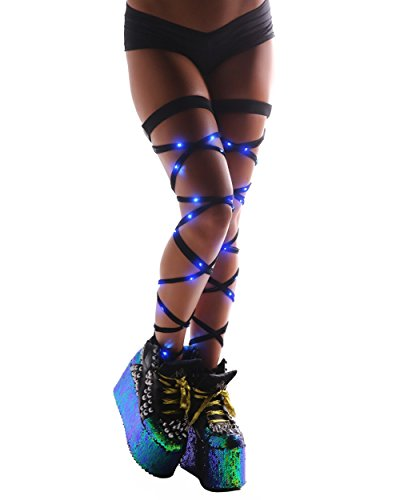 iHeartRaves Light Up LED Leg Rave Wraps