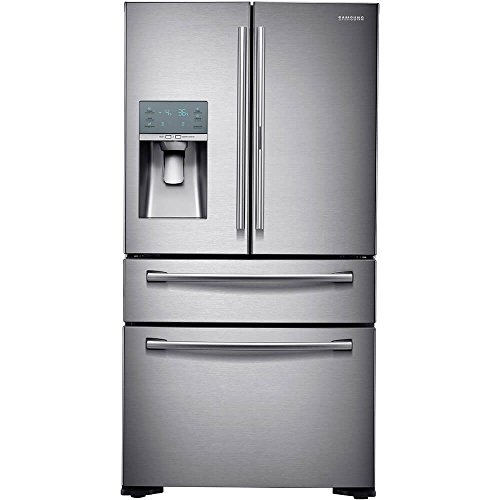 Samsung RF22KREDBSR/RF22KREDBSR/AA/RF22KREDBSR/AA RF22KREDBSR 22.4 Cu. Ft. Stainless French-FoodShowcase Door Counter Depth Refrigerator by Samsung