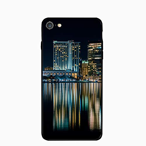 iPhone 6S Plus Case/iPhone 6 Case, Harbor Night City Reflection Baltimore Printed Clear Design Case with TPU Bumper Protective Case Cover for iPhone -