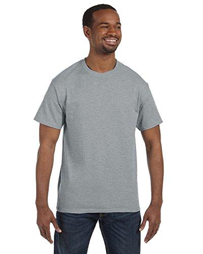 Jerzees 5.6 oz., 50/50 Heavyweight Blend T-Shirt, XL, ATHLETIC HEATHER from Jerzees
