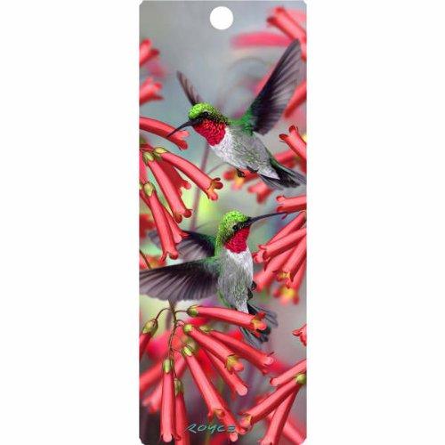 Fluttering Hummingbirds 3-D Bookmark with - Bookmarks Hummingbird