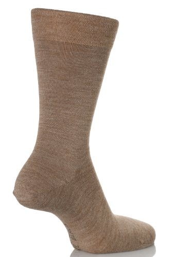Falke Men's 1 Pair Sensitive Berlin Virgin Wool Left & Right Shaped Sock with... 9-11.5 Nutmeg Melange