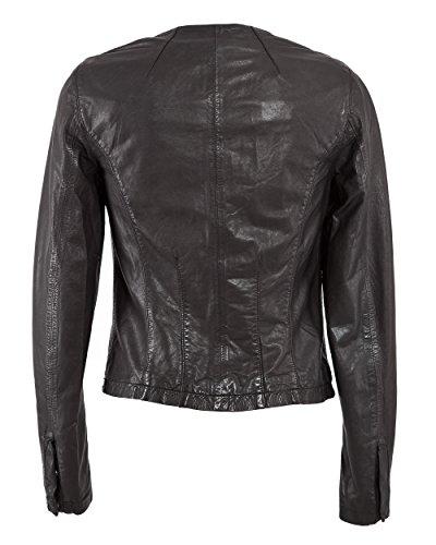 cuir en MAZE femme noir pour veste pikine 0qwEt