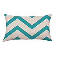 Kimloog Hot Sale! Geometric Lines Print Multi-Color Rectangle Throw Pillow Cases Sofa Bed Decoration Cushion Cover (B)