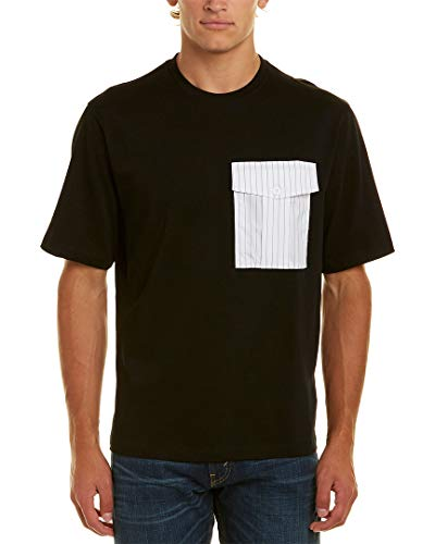 Helmut Lang Mens - Helmut Lang Men's Pinstripe Pocket Tee, Black/Pinstripe, X-Large