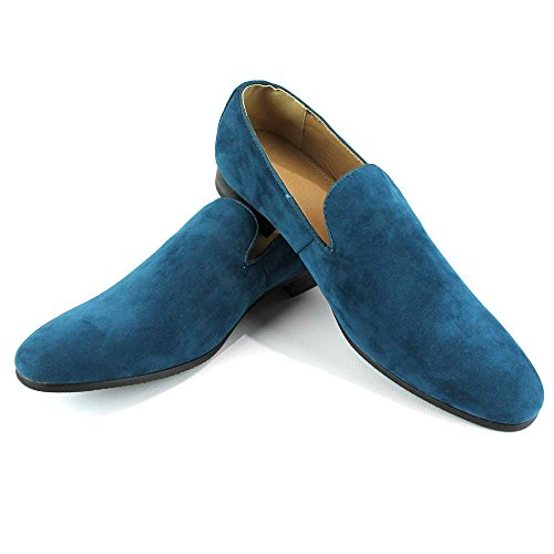 Azar Shoes Slip Green Dress New Modern on Teal Loafers Men's MAN AZAR qU8nTwfzq