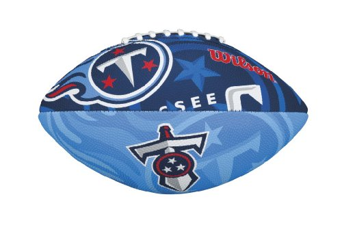 Wilson NFL Junior Team Logo Football (Tennessee (Tennessee Titans Team Logo Football)