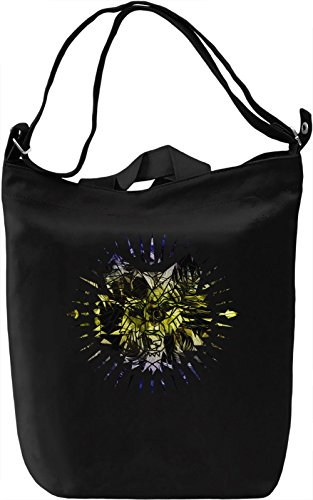 Hipster Woolf Borsa Giornaliera Canvas Canvas Day Bag| 100% Premium Cotton Canvas| DTG Printing|