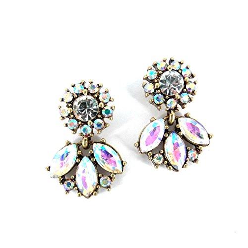 Gold Austrian Crystal Earrings (Chic Fashion Ab Austrian Crystal Gold Fashion Bohemian Boho Statement Chandelier Earrings)