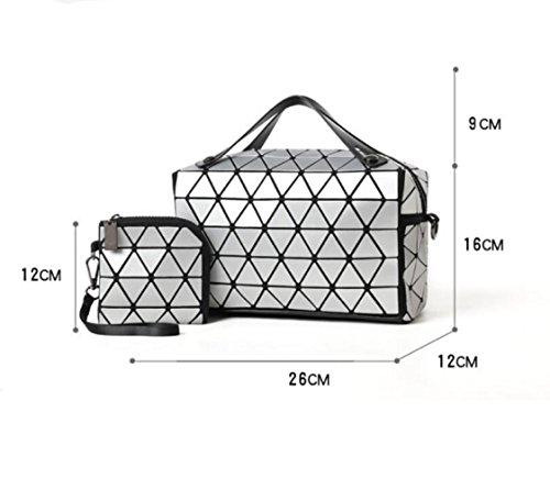 Sac Lumière PhotoColor Mode Géométrique Coréenne Sac à PU Main Plastique Chiffon Lingge Lumineux Sauvage 8wr8OYx