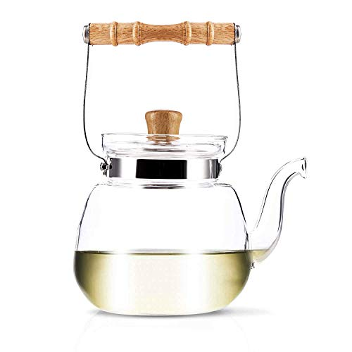 YAMA GLASS YAMT17 Teapot and Water Kettle 40 oz ()
