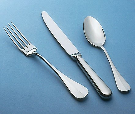 Guy Degrenne - Beau Manoir 5 Piece Flatware Set, Stainless Steel Mirror Finish (Guy Degrenne Mirror)