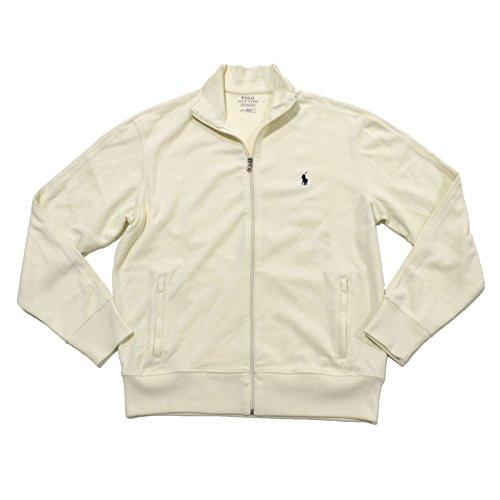 Polo Ralph Lauren Mens Full Zip Ribbed Track Jacket (Large,