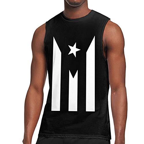 - Mens Puerto Rico Resiste Boricua Flag Se Levanta Muscle Sleeveless Shirt, Basal Tank Top for Sports Fitness Black