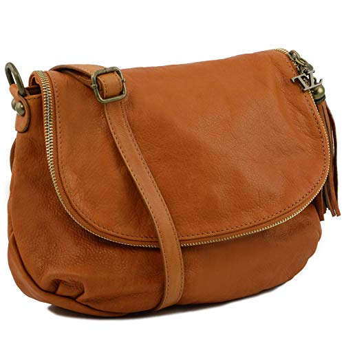 Tuscany Tassel Bag Soft With Detail Shoulder Cognac Tlbag Leather rxYwBq4r