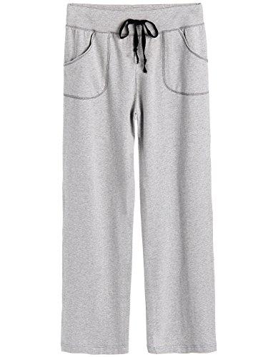 Latuza Women's Cotton Lounge Pants (M, Heather Gray) Pj Lounge Pants