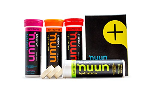 Nuun Hydration: Electrolyte + Caffeine Drink Tablets, Mixed Flavors, Box of 4 Tubes