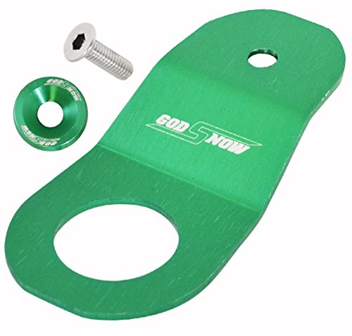 Jdm Anodized Aluminum Radiator Mount Bracket with Support Fender Washer Bolt Kit Green For Acura / Honda (Radiator Support Integra)